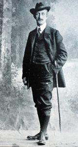 Hermann Löns. Deutscher Schriftsteller. Fotografie um 1900. Gemeinfrei.